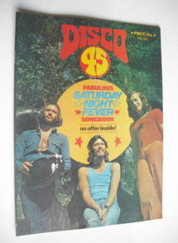 Disco 45 magazine - No 93 - July 1978 - The Bee Gees cover
