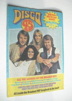 Disco 45 magazine - No 111 - January 1980 - Abba cover