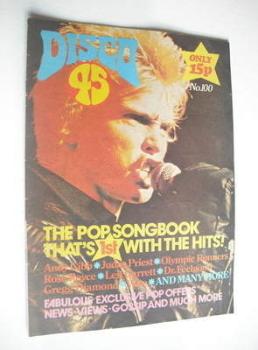 Disco 45 magazine - No 100 - February 1979 - Billy Idol cover