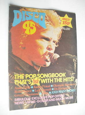 <!--1979-02-->Disco 45 magazine - No 100 - February 1979 - Billy Idol cover