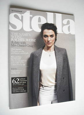 <!--2011-11-20-->Stella magazine - Rachel Weisz cover (20 November 2011)