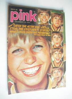 Pink magazine - 7 December 1974 - Julie Peasgood cover