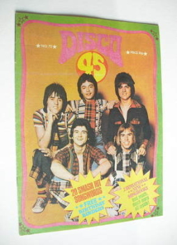 Disco 45 magazine - No 72 - October 1976 - Bay City Rollers cover