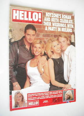 <!--1998-07-25-->Hello! magazine - Keith Duffy & Lisa Smith, Ronan & Yvonne