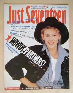 Just Seventeen magazine - 6 August 1986