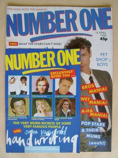 <!--1988-04-16-->NUMBER ONE Magazine - Pet Shop Boys cover (16 April 1988)