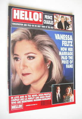 <!--1999-12-07-->Hello! magazine - Vanessa Feltz cover (7 December 1999 - I