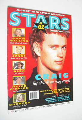 Stars Of Oz magazine - Craig McLachlan cover (August 1990)