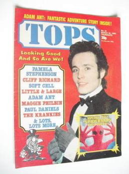 Tops magazine - 20 March 1982 - Adam Ant cover (No. 24)