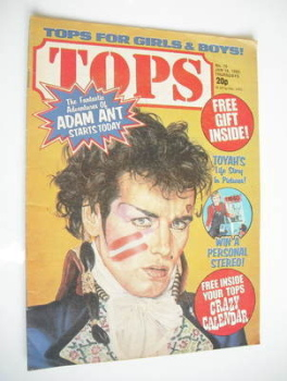 Tops magazine - 16 January 1982 - Adam Ant cover (No. 15)