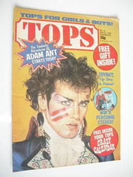 Tops magazine - 16 January 1982 - Adam Ant cover (No. 15)