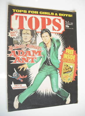 Tops magazine - 23 January 1982 - Shakin' Stevens cover (No. 16)
