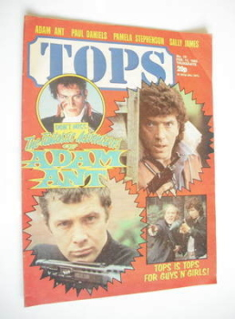 Tops magazine - 13 February 1982 - The Professionals cover (No. 19)