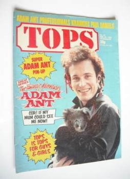 Tops magazine - 20 February 1982 - Adam Ant cover (No. 20)