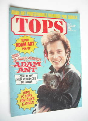 Tops magazine - 20 February 1982 - Adam Ant cover (No. 20)