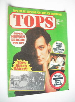 Tops magazine - 3 April 1982 - Phil Oakey cover (No. 26)