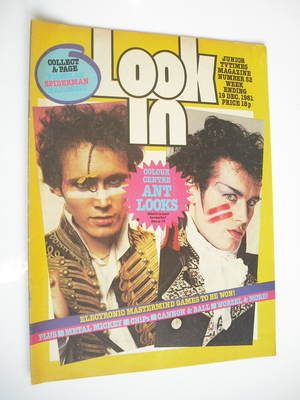 <!--1981-12-19-->Look In magazine - Adam Ant cover (19 December 1981)