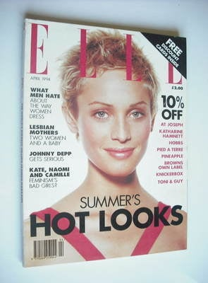 <!--1994-04-->British Elle magazine - April 1994 - Beri Smither cover
