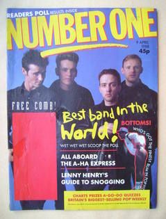 NUMBER ONE Magazine - Wet Wet Wet cover (9 April 1988)