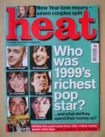 <!--2000-01-13-->Heat magazine - Who Was 1999's Richest Pop Star? cover (13-19 January 2000 - Issue 48)