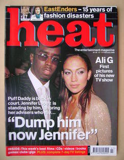 <!--2000-02-17-->Heat magazine - Puff Daddy and Jennifer Lopez cover (17-23