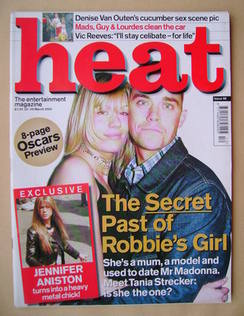 <!--2000-03-23-->Heat magazine - Tania Strecker and Robbie Williams cover (