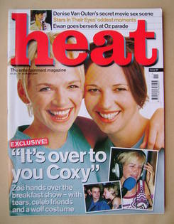 <!--2000-03-16-->Heat magazine - Zoe Ball and Sara Cox cover (16-22 March 2