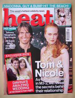 <!--2000-07-08-->Heat magazine - Tom Cruise and Nicole Kidman cover (8-14 J