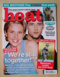 Heat magazine - Mel C and J from Five cover (29 July - 4 August 2000 - Issue 76)