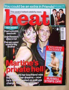 Heat magazine - Martine McCutcheon and Jonathan Barnham cover (22-28 July 2000 - Issue 75)
