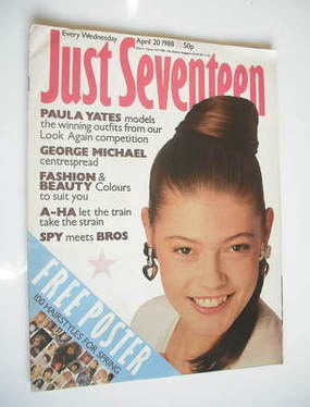 Just Seventeen magazine - 20 April 1988