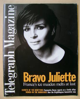 <!--1995-12-02-->Telegraph magazine - Juliette Binoche cover (2 December 19