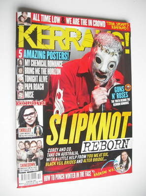 <!--2012-03-10-->Kerrang magazine - Slipknot cover (10 March 2012 - Issue 1