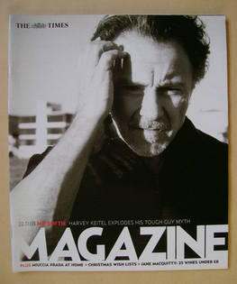 <!--2003-11-22-->The Times magazine - Harvey Keitel cover (22 November 2003