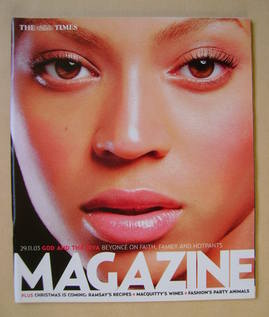 <!--2003-11-29-->The Times magazine - Beyonce Knowles cover (29 November 20
