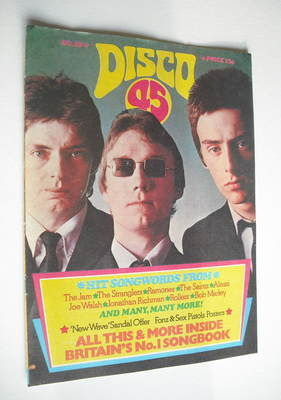 <!--1977-08-->Disco 45 magazine - No 82 - August 1977 - The Jam cover
