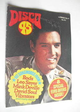 <!--1977-09-->Disco 45 magazine - No 83 - September 1977 - Elvis Presley co
