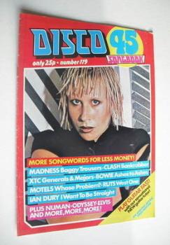 Disco 45 magazine - No 119 - September 1980 - Hazel O'Connor cover