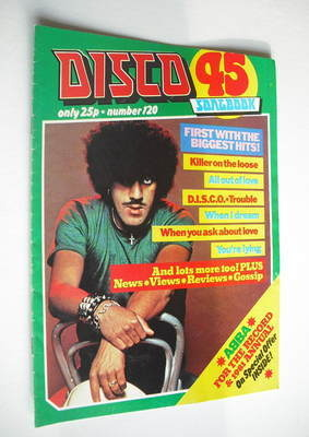 <!--1980-10-->Disco 45 magazine - No 120 - October 1980 - Phil Lynott cover