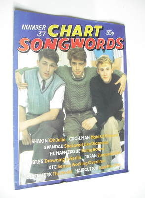 Chart Songwords magazine - No 37 - February 1982 - Haircut 100 cover