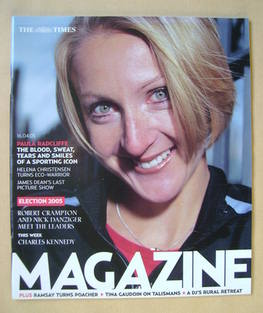<!--2005-04-16-->The Times magazine - Paula Radcliffe cover (16 April 2005)