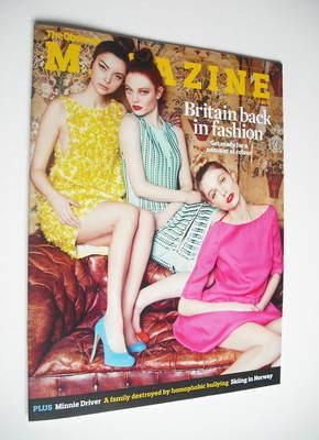 <!--2012-02-19-->The Observer magazine - Britain Back In Fashion cover (19