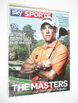 Sky Sports magazine - April/May 2011 - Lee Westwood cover