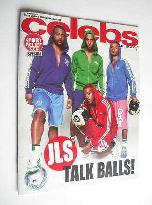 <!--2012-03-11-->Celebs magazine - JLS cover (11 March 2012)