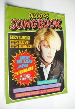 Disco 45 magazine - No 132 - October 1981 - David Sylvian cover