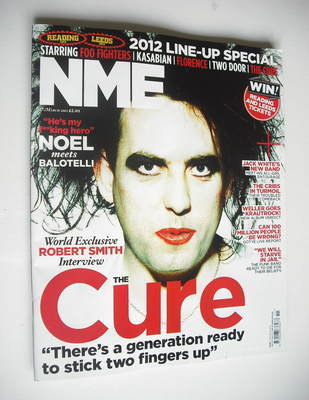<!--2012-03-13-->NME magazine - Robert Smith cover (17 March 2012)