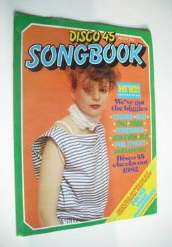 Disco 45 magazine - No 135 - January 1982 - Clare Grogan cover