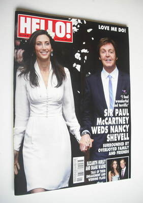<!--2011-10-17-->Hello! magazine - Sir Paul McCartney and Nancy Shevell cov