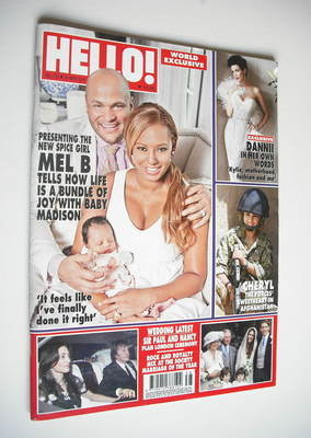 <!--2011-09-26-->Hello! magazine - Mel B and baby Madison cover (26 Septemb