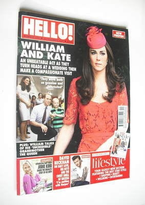 <!--2011-10-10-->Hello! magazine - Kate Middleton cover (10 October 2011 -
